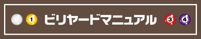 ビリヤードマニュアルページ_TOP